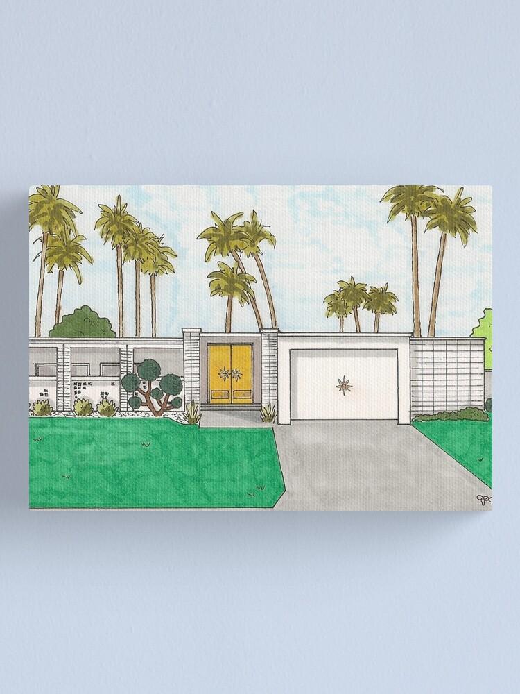 Golden Door Mid-Century Modern Palm Springs House | Canvas Print