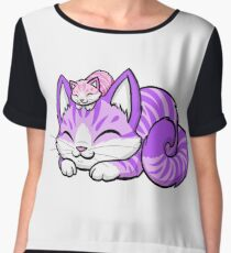 Mama Kitty Chiffon Top