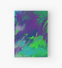 Abstract Green and Purple Hardcover Journal