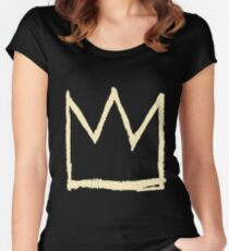 dinosaur basquiat  Women's Fitted Scoop T-Shirt