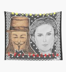 (V For Vendetta - We The People) - yks by ofs珊 Wall Tapestry