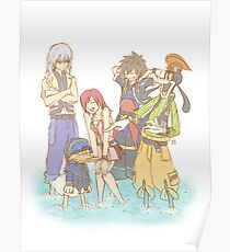 Kingdom Hearts II - The Gang Poster