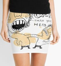 my head is larger than yours Mini Skirt