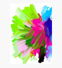 Splash in Abstract Painting Photographic Print