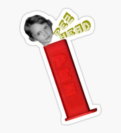 Pez Head Sticker