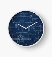 Toy Airplane Blueprint Clock