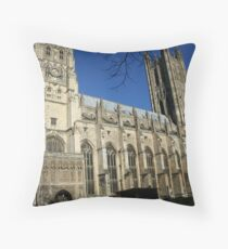Canterbury Cathedrale Throw Pillow