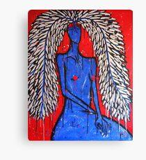 Grey Matters Woman-Portrait 6 Canvas Print