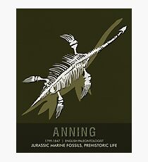 Science Posters - Mary Anning - Paleontologist Photographic Print