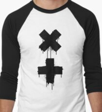 black white garrix Men's Baseball ¾ T-Shirt