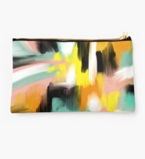 Colorful Abstract Painting Studio Pouch
