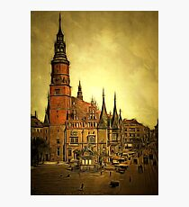 Town Hall, Breslau, Silesia, Germany 1890 (now Wroclaw, Poland) in colour Photographic Print