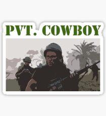 Pvt. Cowboy Sticker