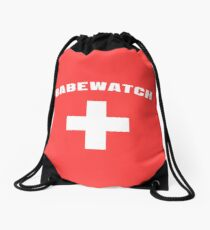 Babewatch lifeguard Drawstring Bag