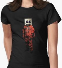 marshmello astronaut Womens Fitted T-Shirt