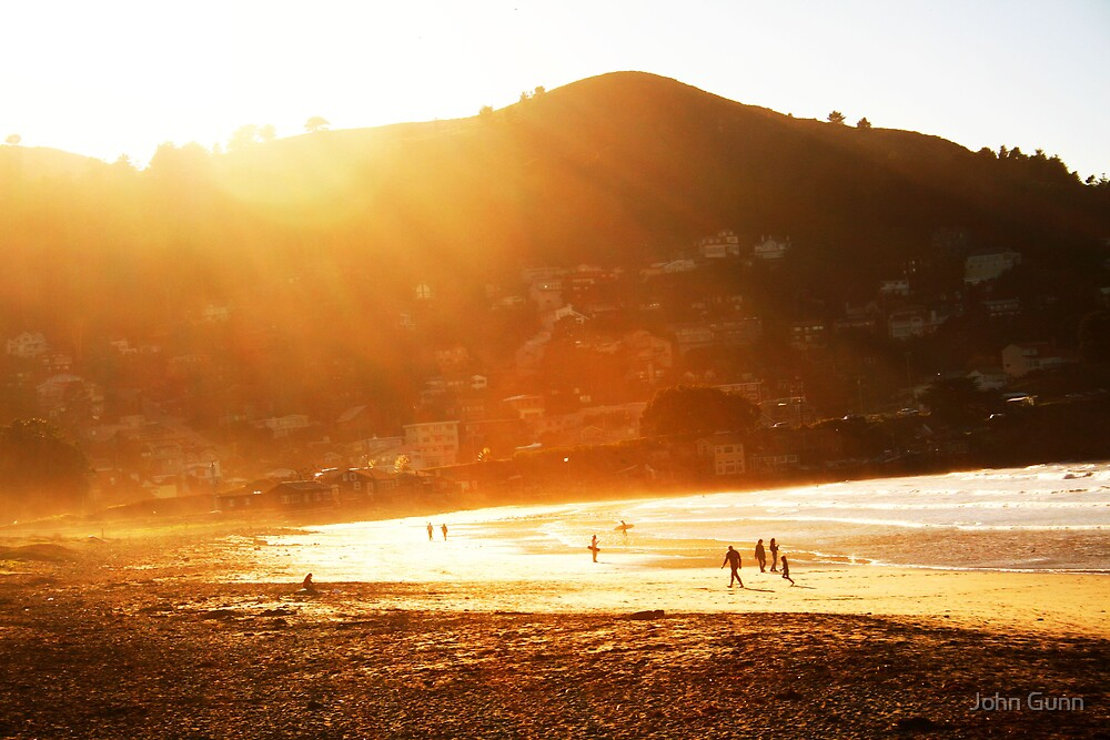 A day at the beach by John Gunn