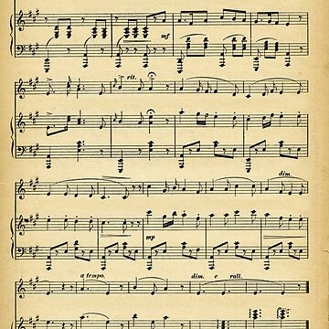 Antique Sheet Music by kashmier