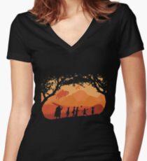 The Fellowship of the Berserk Women's Fitted V-Neck T-Shirt