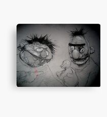 Bert and Ernie Zombies Canvas Print