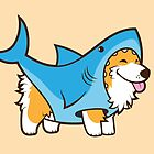 Corgi In a Shark Suit by Jennifer Smith