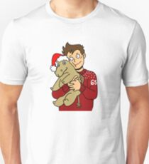 Shaw and Mr. Christmas Camel (no text) Unisex T-Shirt