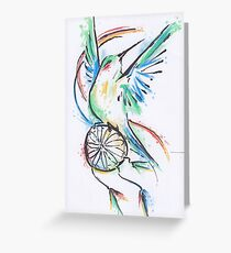 Dreamcatcher Hummer Greeting Card