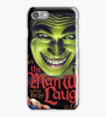 The Man Who Laughs vintage movie poster iPhone Case/Skin