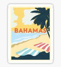 Pegatina Viaje de la vendimia de Bahamas
