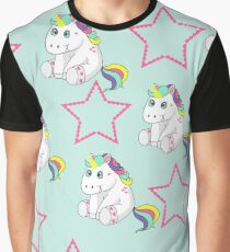 funny unicorn and stars Graphic T-Shirt