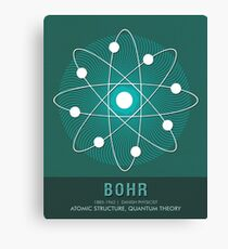 Science Posters - Niels Bohr - Physicist Canvas Print