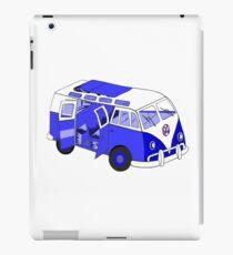 Split Screen VW Camper Van Blue iPad Case/Skin