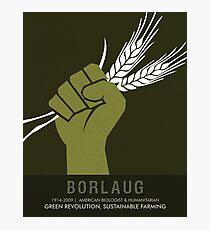 Science Posters - Norman Borlaug - Biologist, Agronomist Photographic Print