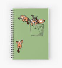 Pocket Red Panda Bears Spiral Notebook