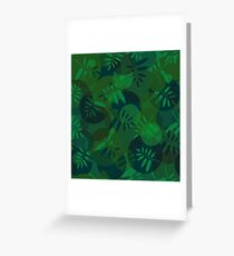 Abstract texture of spirals and leaf  Greeting Card