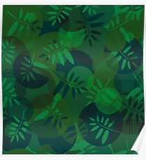 Abstract texture of spirals and leaf  Poster