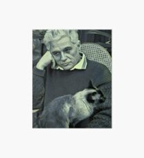 Derrida and Cat - stylized Art Board
