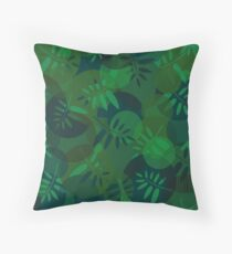 Abstract texture of spirals and leaf  Throw Pillow
