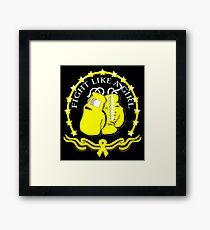 Fight Like A Girl Endometriosis Framed Print