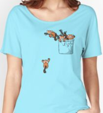 Pocket Red Panda Bears Women's Relaxed Fit T-Shirt
