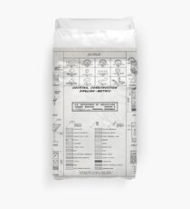 Ccktail chart old blueptint Duvet Cover