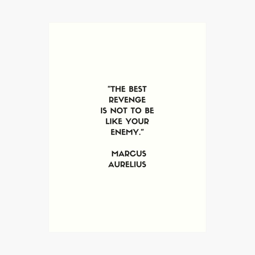 MARCUS AURELIUS  Stoic Philosophy Quote Art Print