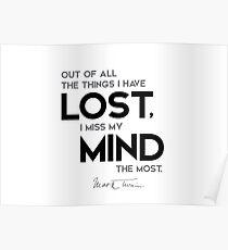 I miss my mind - mark twain Poster