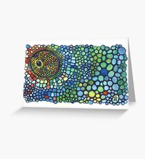 Texture caméléon multicolore Greeting Card
