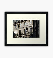 Silhouettes and Azulejos Framed Print