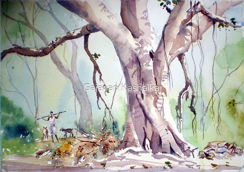 Banyan tree by Gajanan Kashalkar