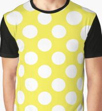 Daffodil Yellow and White Polka Dots  Graphic T-Shirt
