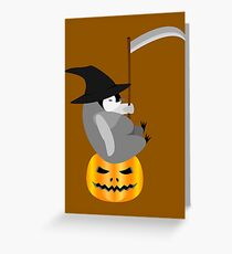 Halloween Penguin Greeting Card