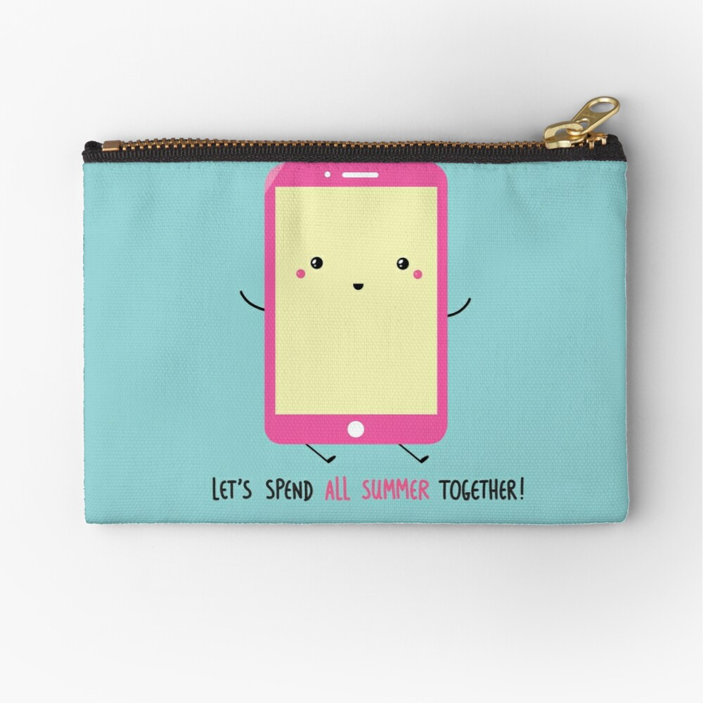 let's spend all summer together Zipper Pouch