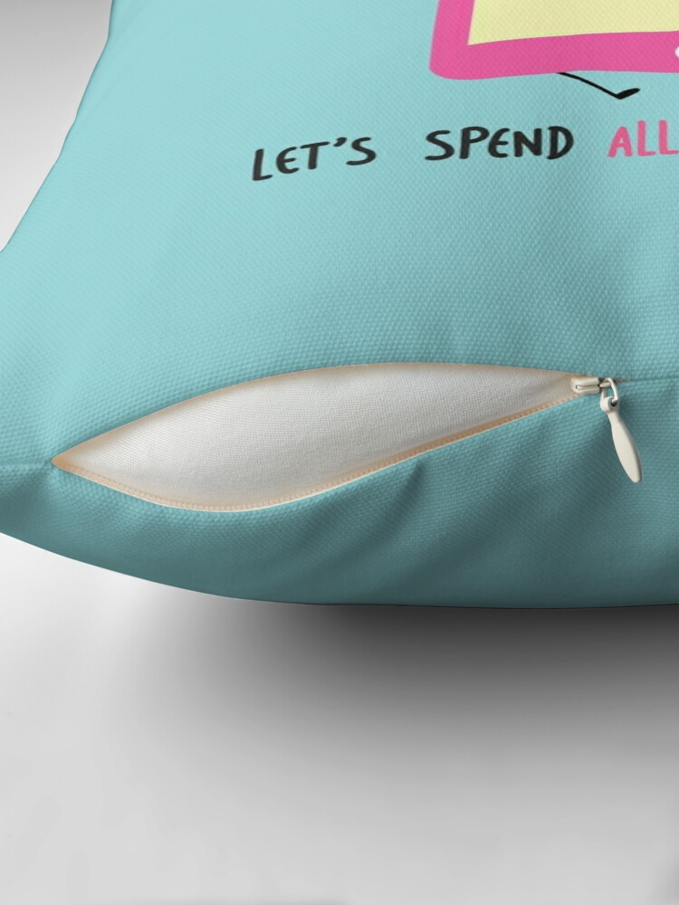 Alternate view of let's spend all summer together Throw Pillow