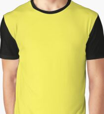 Daffodil Yellow Solid Color Graphic T-Shirt